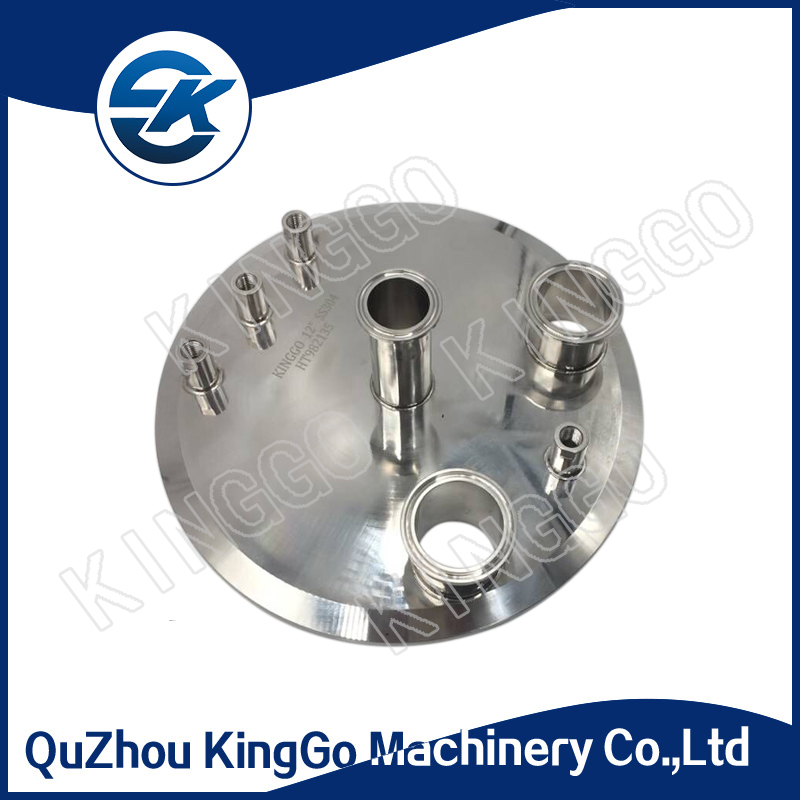 "12"" Stainless Steel SS316L Clamp End Blind Cap With Weld Nipple for Ultraviolet sterilizer"