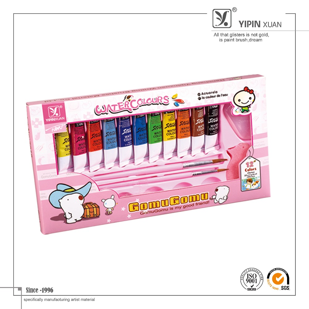 High Quality Colorful Artist Water Color Paint Set Free Sample