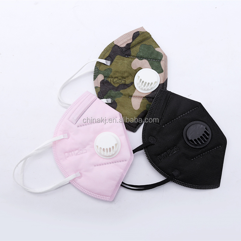 disposable 3D Fold Dust N95 Face Mask with valve non woven active carbon anti pollution respirator - KingCare   KingCare.net