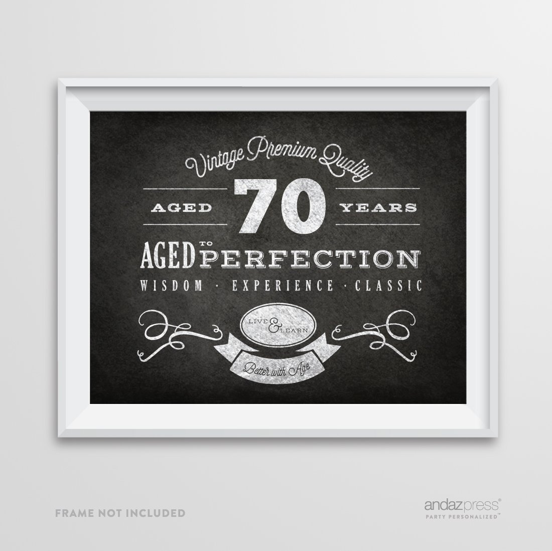 Andaz Press Milestone Birthday Wall Art Poster Signs 70th Gifts Decorations And Party