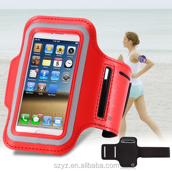 Sports Armband Case for iPhone 5s 6s 6s Plus Bag for Running Sports Mobile Phone Holder Reflective Bracelet Fitness Armband