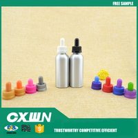 60ml aluminum e juice glass pipette dropper bottle with childproof cap