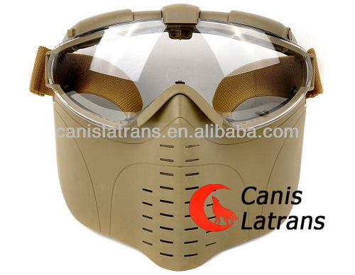 Safety Face Paintabll Mask with Goggles ,airsoft Helmet with layer,China.