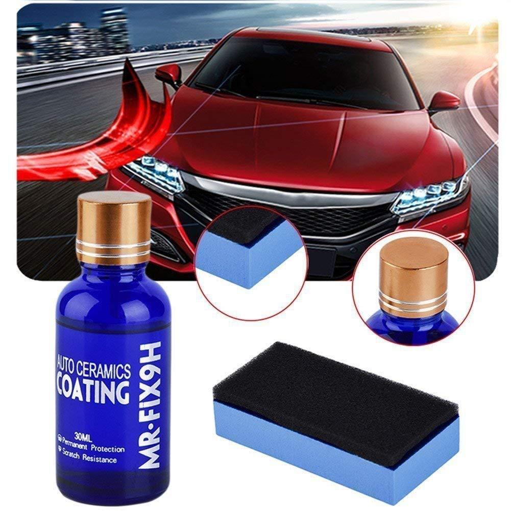 30ML Car Nano Ceramic Coating,9H Super Hydrophobic Car Anti Scratch Coating Kit, Liquid Paint Sealant Protection Glass Coating Polish(30ML)