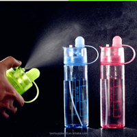 400ml 600ML Creative Button Water Bottle PC Plastic Travel Sport Misting Spray Water Bottle