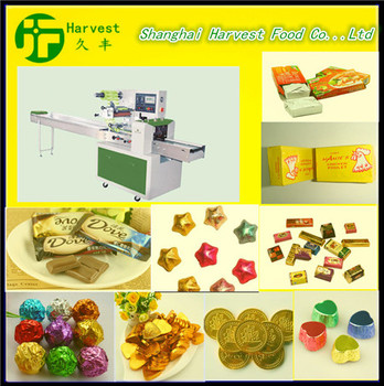 good price chocolate candy bar wrapping machine cotton candy