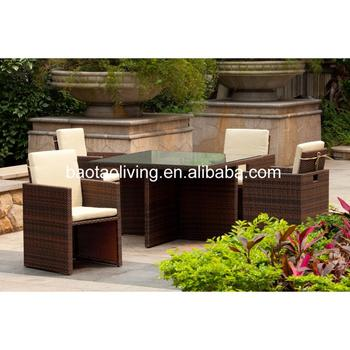 Mobili Da Giardino Design.New Design Cube Shape Wicker Chairs And Table Dining Set Mobili Da Giardino Buy Bar Furniture Outdoor Furniture Wicker Table And Chair Product
