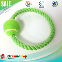 Popular design dog toys rope ball pet toy knot rope dog chew toy