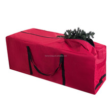 Wholesale Larger capacity Red Rolling Duffle Bag Style Christmas Tree Storage Bag for holiday