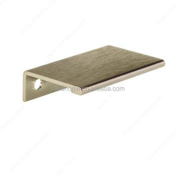 Aluminum Extruded Pull Edge Handle Furniture Cabinet Wardrobe Finger Edge  Pulls