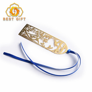 Hot Sale Chinese Style Brass Hollow Out Metal Bookmark For Gift