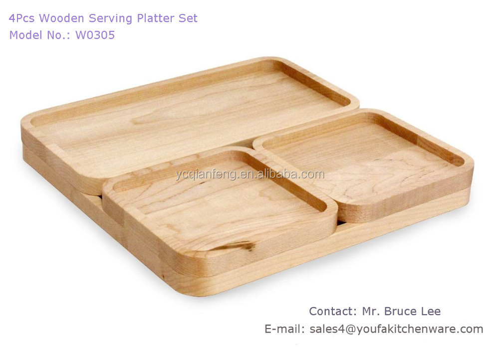 Acacia Steak Bbq Board In 4 Pcs Set/ Serving Tray /serving Board   Buy  Wooden Steak Board,Wooden Steak Board Product On Alibaba.com