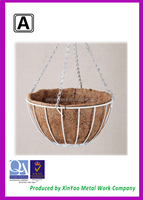 Garden plant wire hanging basket with chains wholesale BH090020