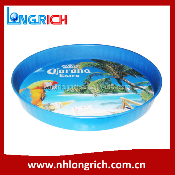 Custom Printed Wholesale Metal Serving Tray / Printing Round Tray / Beer Waiter Tray