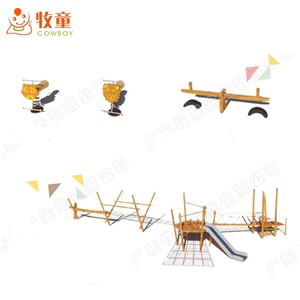 china supplier wood playground outdoor park preschool use made in guangzhou