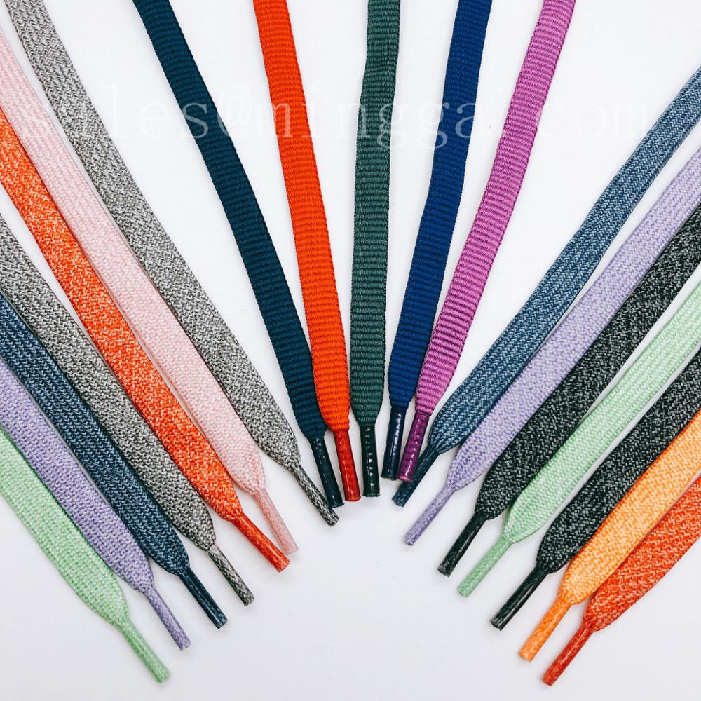 high quality cheap flat polyester shoelace,custom printed shoe lace with plastic tips