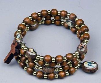 Wood Wrap Rosary Bracelet