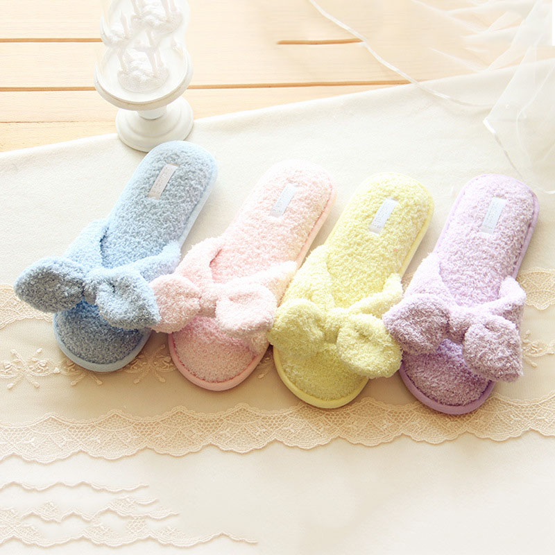 Bow waterproof non slip <strong>slippers</strong> home soft hair cute plush indoor <strong>slippers</strong> cute memory cotton bow fish funny <strong>slippers</strong>