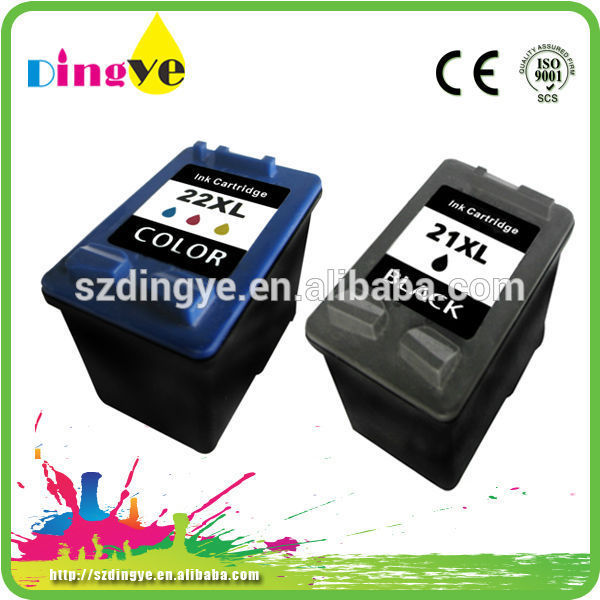 compatible printer inkjet cartridges for HP21 22 office worker ink cartridge