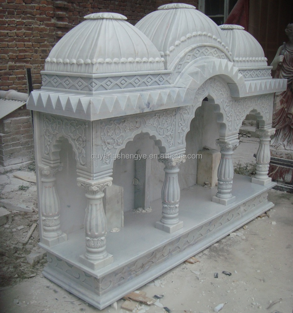 Home Decorative White Marble Temple