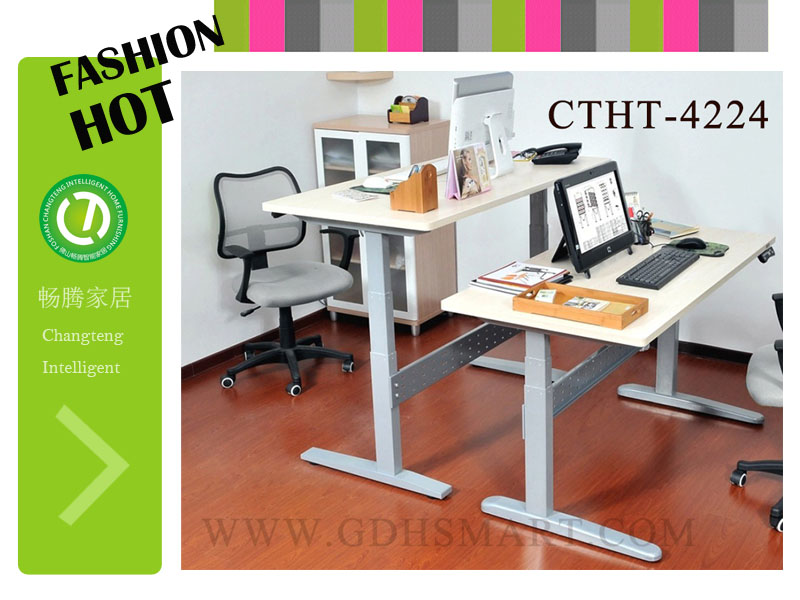 Good Working Solution Computer Table Standing Up High Top Desks 2 People  Office Desk