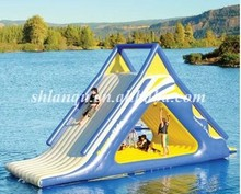 commercial inflatable water floating slide used swimming pool for adult