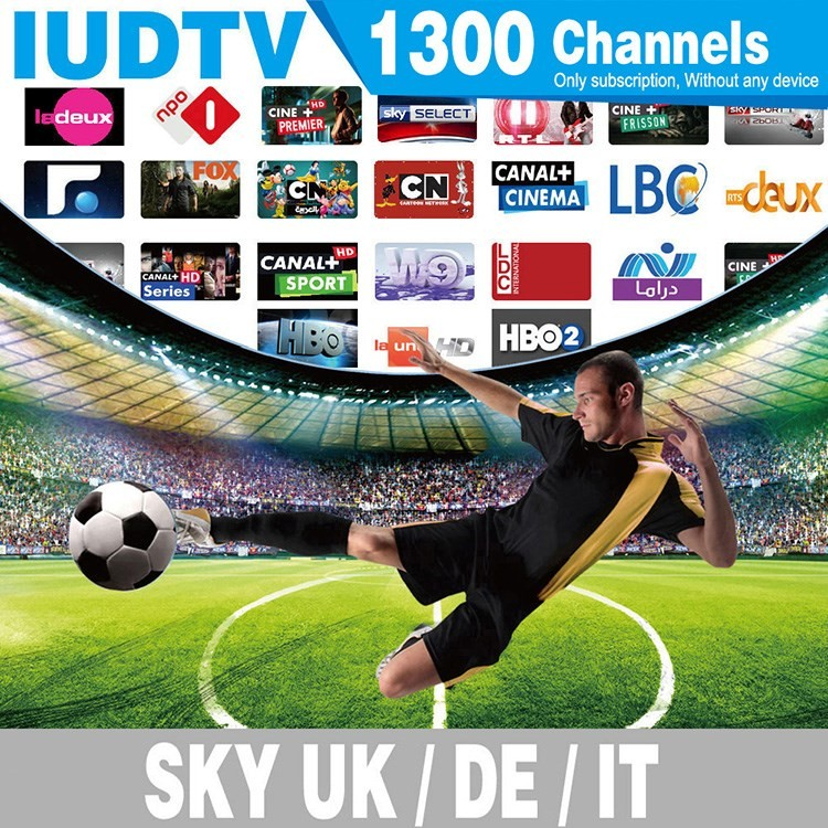 Europe IUDTV suppport 1500 channels HD iptv for quad core x96 android tv box