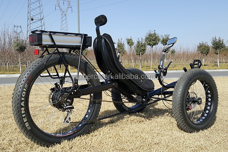 China Recumbent Trike Electric 3 Wheels Fat Bikes For