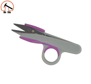 easy using thread clipper scissors with soft touch handle
