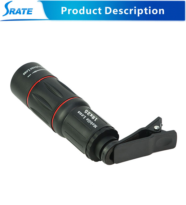 Hot Selling 18x25 monocular zoom lens for mobile phone with good quality