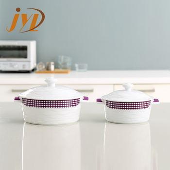 Round Size Ceramic Oven Safe Cerole Dish With Lid