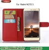 Wholesale Smart Stand Wallet Flip PU Leather Case For xiaomi redmi note3 Holder cover