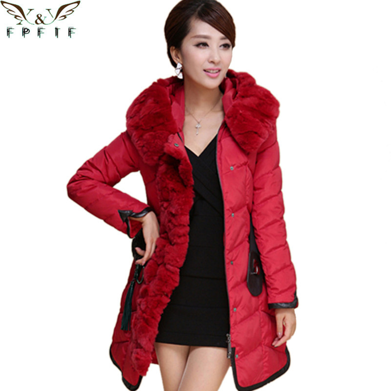 European Version Of Plus Size Jackets Women Quilted Jacket Parkas Slim Long Zipper Hooded Solid Winter Coat Women Down Jacket