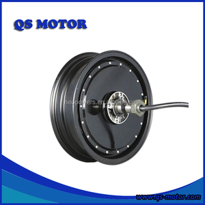 New QS Motor 13 Inch Single Shaft 273 2kw V3 28H Brushless DC Hub Motor With Removable Rim