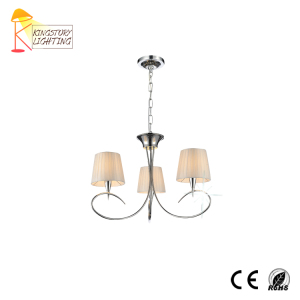 Cheap Luxury Large Parts E14 Modern Candle Hanging Metal Pendant Light Fabric Chandelier For Wedding Hotel