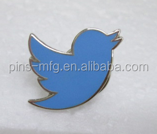 Twitter Pin De Solapa Del Esmalte Duro Buy Twitter Pin,Pin Esmalte Duro Insignia,Pájaro Insignia Del Metal Product on