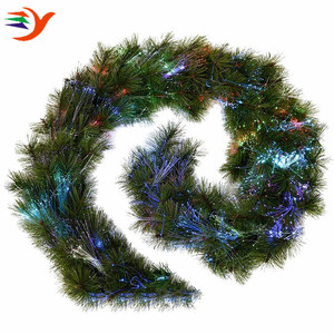 Best Selling High Quality Colorful Polished color changing LED fiber optic christmas garland
