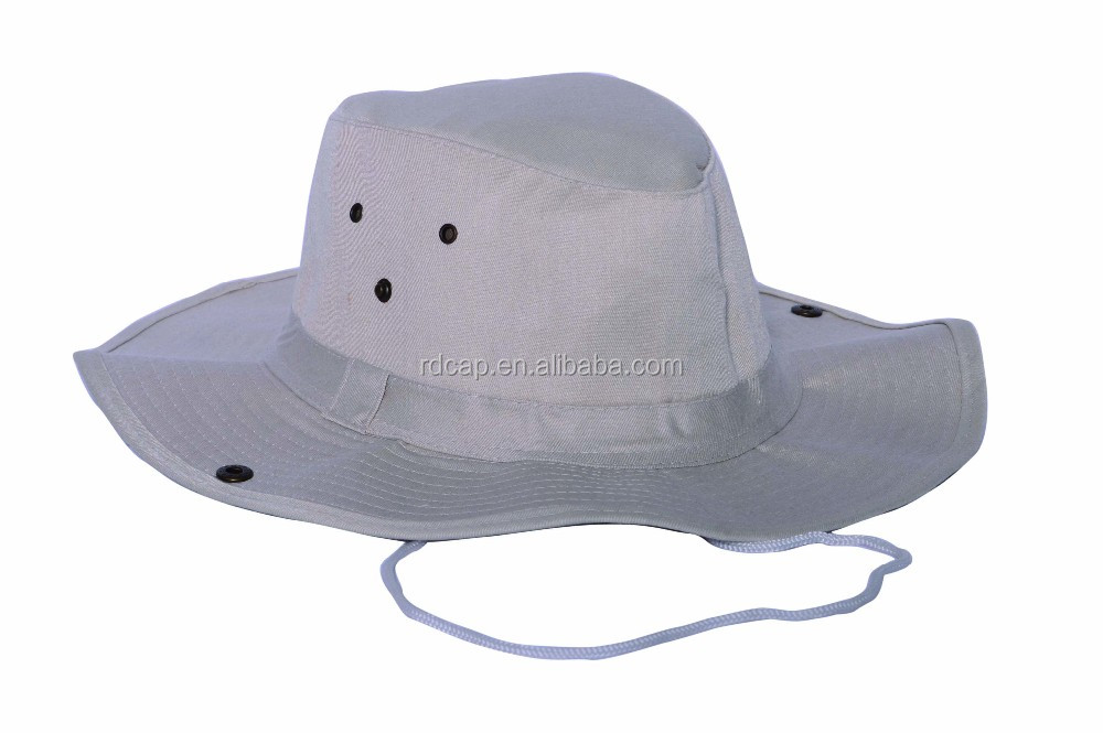 0284dd515d604f Stylish custom cowboy designer bucket hats with string cheap cotton safari  sunhat fishing hat for adults