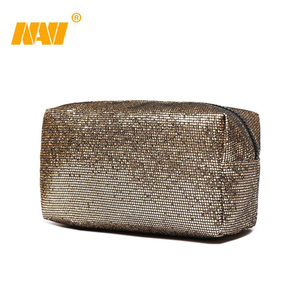 Cosmetic bag new fashion shiny sequin make up bag large space women casual organizer makeup case beauty bags