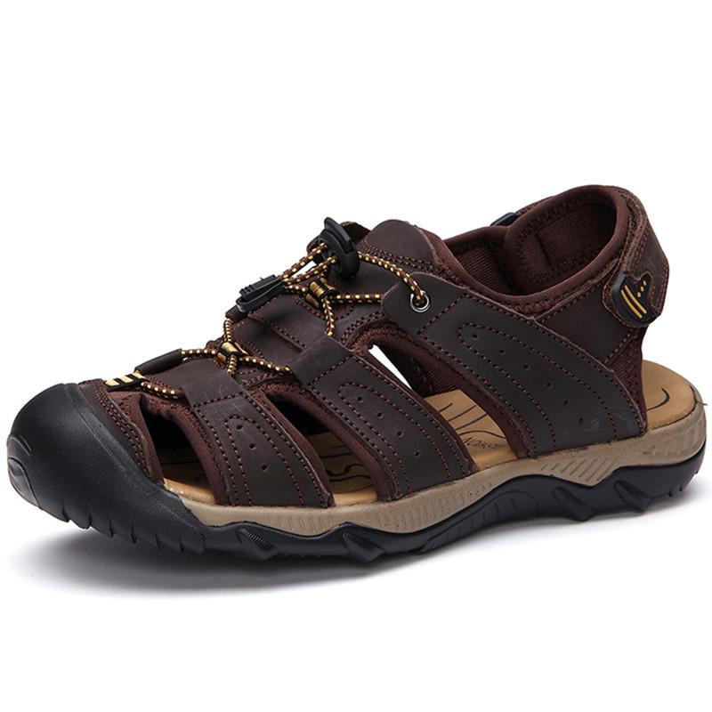 c6202b11ac70 Get Quotations · 2015 Hiking Shoes Men Sandals Zapatos Sandals Men Brand  Outdoor Hiking Sandals Men Hiking Shoes Cow