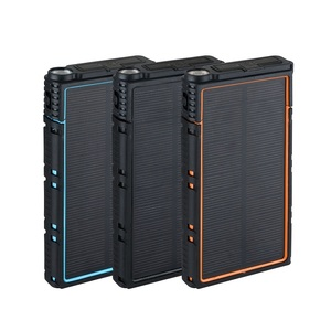 Portable Outdoor IP66 Waterproof Polymer Universal Solar Power Bank Dual USB with SOS LED Charger for Mobile Phone Universal