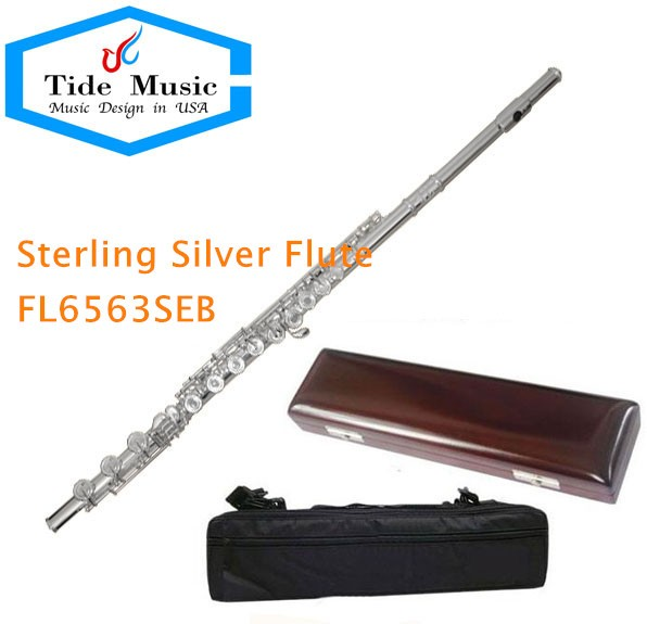 High grade Sterling Silver Body 16 open hole flute, french key