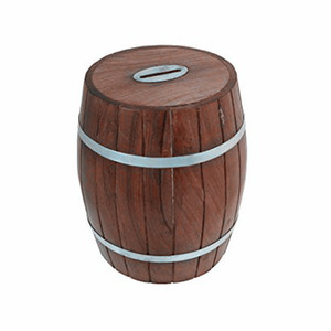Custom resin wooden bottle shape money saving box wholesales