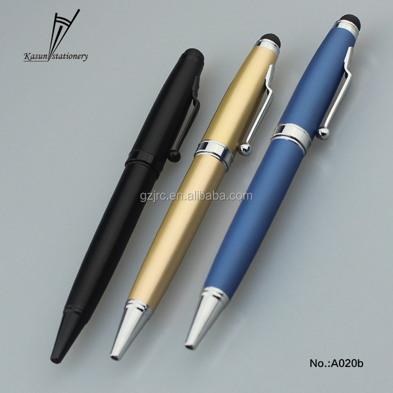 Fat shape 2 in 1 function mobile phone touch screen matt stylus ball pen