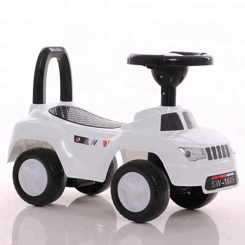 New plastic factory best price children swing car kids slide toy car for sale