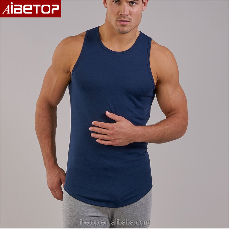 2fd5f791b4a93 Vintage long tail vest gym man bodybuilding clothing athletic fitness  stringer tank tops