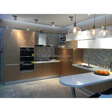 Promotion modern MDF kitchen cabinet prices kitchen cabinet skins