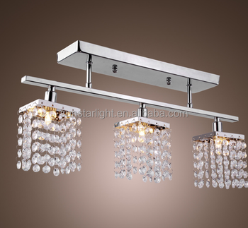 3 Head Drop Light Pendant Light Crystal Chandelier And
