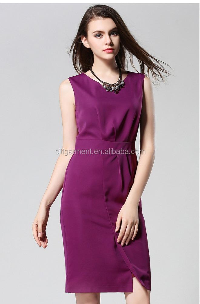 Venta al por mayor vestidos modernos para oficina-Compre online los ...
