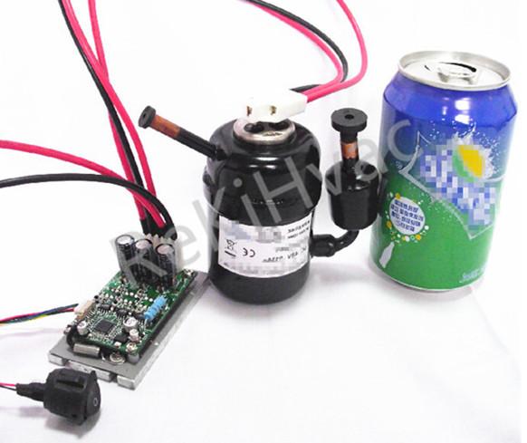 R134a 12v Dc Compressor For Mini Fridge With Inverter Controller ...